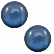 12 mm classic Cabochon Polaris Elements soft tone shiny Dark blue