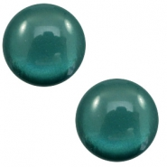 7 mm classic Cabochon Polaris Elements soft tone shiny Deep teal blue