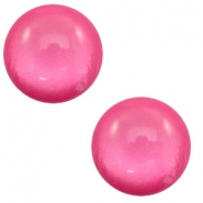 7 mm classic Cabochon Polaris Elements soft tone shiny Magenta pink