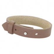 Cuoio Armbänder Leder 15 mm für 20 mm Cabochon Medium brown