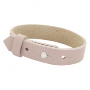 Cuoio Armbänder Leder 15 mm für 20 mm Cabochon Rose taupe