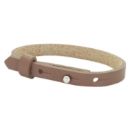 Cuoio Armband 8mm Leder für 12mm Cabochon Medium brown