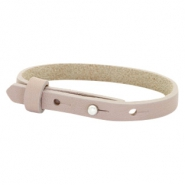Cuoio Armband 8mm Leder für 12mm Cabochon Rose taupe