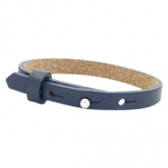 Cuoio Armband 8mm Leder für 12mm Cabochon Dark midnight blue