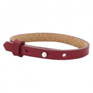 Cuoio Armband 8mm Leder für 12mm Cabochon Tawny port red