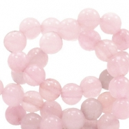 6 mm Naturstein Perlen rund Light vintage pink