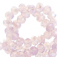 Top Glas Facett Perlen 8x6 mm disc Lavender lila-pearl shine coating