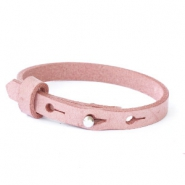 Cuoio Armband 8mm Leder für 12mm Cabochon Soft misty rose