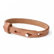 Cuoio Kids Armband 8mm für 12mm Cabochon Auburn brown