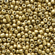 Glasperlen Rocailles 12/0 (2mm) Medallion gold metallic