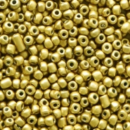 Glasperlen Rocailles 12/0 (2mm) Rich gold metallic
