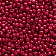 Glasperlen Rocailles 12/0 (2mm) Mulberry red
