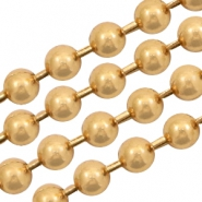 Basic Quality Metall Ballchain 2mm Gold