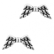 Basic quality Metall Perlen Angel Wing Antik silber
