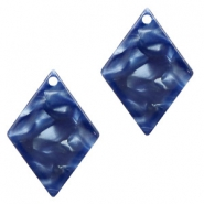 Resin Anhänger Raute 20x14mm Dark blue
