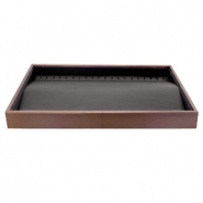 Schmuckdisplay 20 Haken für Ketten Brown-black
