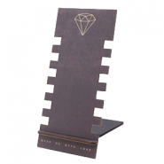 Schmuckdisplay Holz Diamond Black