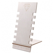 Schmuckdisplay Holz Diamond Silver
