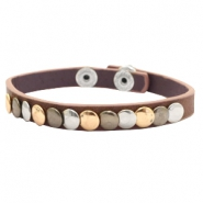Armbänder mit Nieten Dark brown