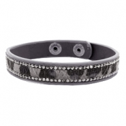 Armbänder Hairy + Strass Dark grey-brown