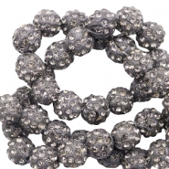 Strass Perlen 6mm Anthracite