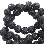 Strass Perlen 6mm Black