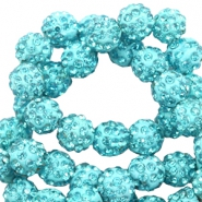 Strass Perlen 8mm Turquoise blue