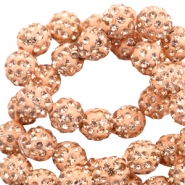 Strass Perlen 10mm Peach