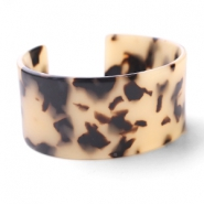 Armbänder Resin Creme-black