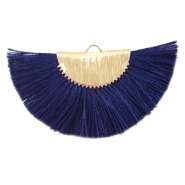 Perlen Quaste Anhänger Gold-dark midnight blue