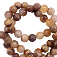 8 mm Naturstein Perlen Achat Brown mix