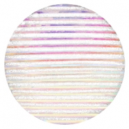 Cabochon Basic 35mm Stripe Silver crystal holographic