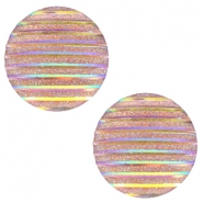 Cabochon Basic 20mm Stripe Champagne holographic