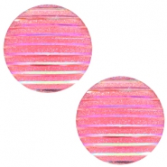 Cabochon Basic 20mm Stripe Pink holographic