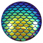 Cabochon Basic 35mm Mermaid Cobalt blue holographic