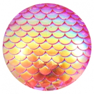 Cabochon Basic 35mm Mermaid Pink holographic