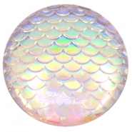 Cabochon Basic 35mm Mermaid Silver crystal holographic