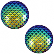 Cabochon Basic 12mm Mermaid Cobalt blue holographic