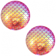 Cabochon Basic 12mm Mermaid Pink holographic