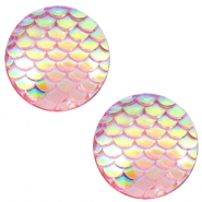 Cabochon Basic 12mm Mermaid Vintage pink holographic