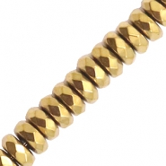 Hematite Perlen Facett Disc Gold