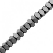 Hematite Perlen Facett Disc Matt Anthracite grey