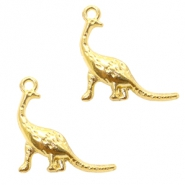 Basic Quality Metall Anhänger Dinosaurier Gold