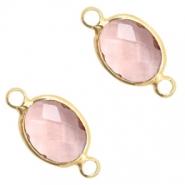 a813e166f761 Kristallglas Zwischenstücke 8x10mm Vintage pink crystal-gold