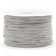 Wachskordel 1mm Light grey