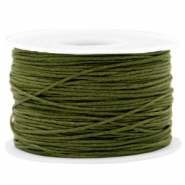 Wachskordel 1mm Army green