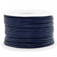 Wachskordel 1.5mm Dark blue