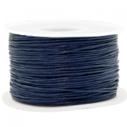 Wachskordel 1mm Dark blue