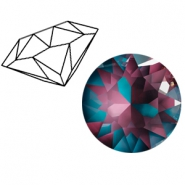 Swarovski Elements 1088-SS29 Chaton (6.2mm) Crystal burgundy DeLite
