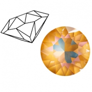 Swarovski Elements 1088-SS29 Chaton (6.2mm) Crystal ochre DeLite